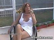 Wild Horny Slut Smoking
