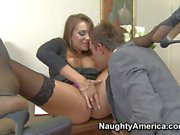 Hot office whore Nika Noir gets slammed