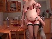 Big clit pregnant fucking