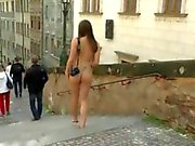 Naughty MonaLee has fun on public streets