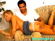 Interracial amateur spanking