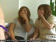 Subtitled Japanese CFNM phimosis masturbation party