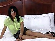 Ebony hottie creampied