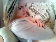 Sexy blonde Jana Cova hot solo masturbation on her bed