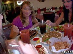 Aletta and Chayse enjoy in threesome with asian dude