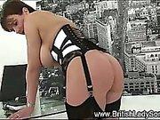 Lady Sonia sucks and tugs cock