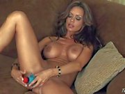 Crissy Moran can't wait to give her new dotted dildo