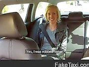 FakeTaxi - Blonde in taxi blowjob