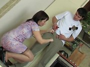 Russian blowjob with great cumshot Jeni from