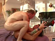 Beautiful Mason Moore drips oil onto her big tits like a good little