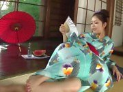 Kinky Hana uses a bottle to toy her pussy until she is soaking wet
