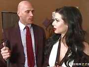Veronica Avluv loves her work relationship with her boss