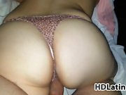 Latina With A Thong Being Fucked POV