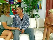Rebecca Bardoux gives head in front of nude college girl