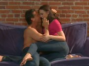 Busty Chanel Preston gets slammed on the couch