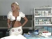 Nurse gets the doctor cock in her pussy