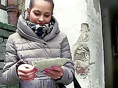 Cute euro chick Emily loves public sex