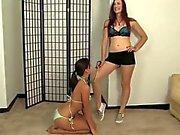 lesbian mistress use a puppy slave