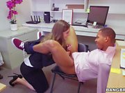 Tali Dova sucking cock in the office