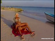 Bleach blonde whore on the beach fucked in the ass