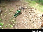 Great blonde babe gets pounded outdoor part5