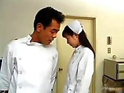 Sexy Asian nurse gets seduced by a doctor