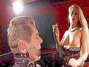 Lucky guy is dominated by hot blond