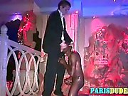 Black euro dude sucks white dick