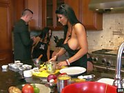Top Porn stars cooking in Brazzers House
