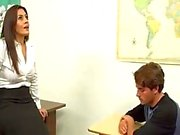 Milf teacher helps out boy