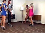 Sadistic Girls Invite Guy Over To Take Advantage