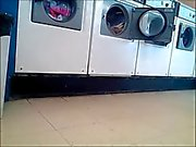 laundromat chubby ass in leggings