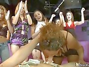 Sexy bachelorette party turns into a blowjob fest