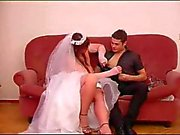 Sexy bride taking dick in her wet cunt