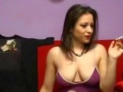 smoking brunette playing hard with her pussy 1 wmv