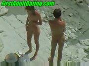 Young public amateurs beach fuck outdoor