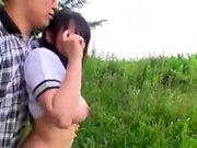 Japanese teen has got big boobs
