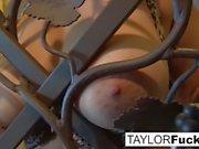 Wine closet masturbation with big tit Taylor