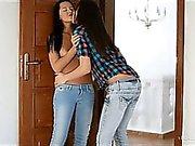 Blue jean lesbian lovers