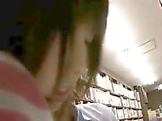 Hot chick in the store is followed and groped by the manage