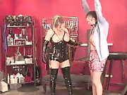 Chubby british dominatrix in cbt fun for sub