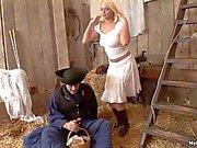 Simony Diamond gorgeous blue eyed blonde maid gets nailed