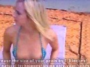 Amateur blonde fucking her ass