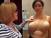 """Bra Lady"" gropes big tits"