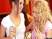 Naughty personal shopper caught fondling her clit