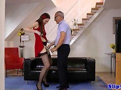 Classy euro pussyfucked by horny pensioner