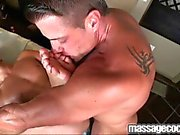 smutty anal massage provided by a muscular gay stud