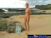 CArli Banks nude on beach