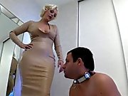 she help his cuckoldress to be ready