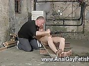 Gay orgy British twink Chad Chambers is his latest victim, confined and